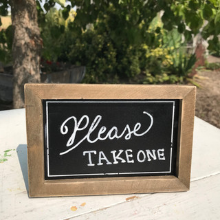 Mini Chalk Board - $2