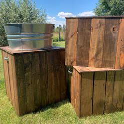 Wood Pedestals - Sm - $15 Lg - $20