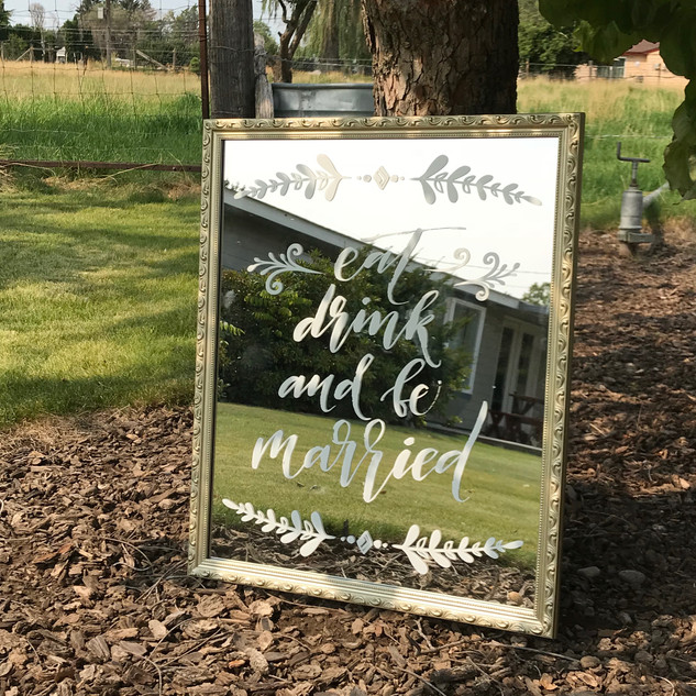 Eat Drink and Be Married Mirror - $10