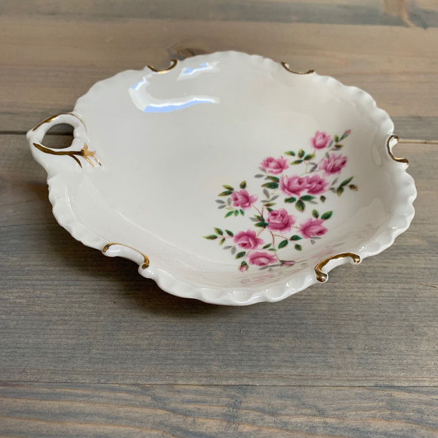 Small Floral Dish - $3