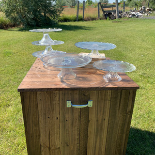 Clear Cake Stands - $5 each