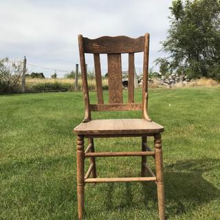 Wood Chair - $10