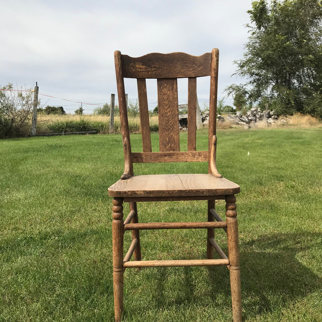Wood Chair - $10