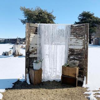 Farmhouse Door Backdrop - $125