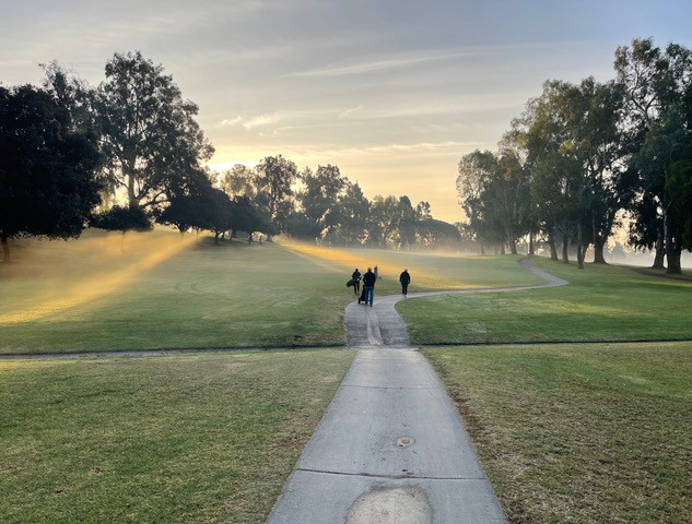 Sunrise over the golf course