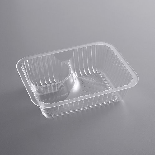 Disposable tray two compartments