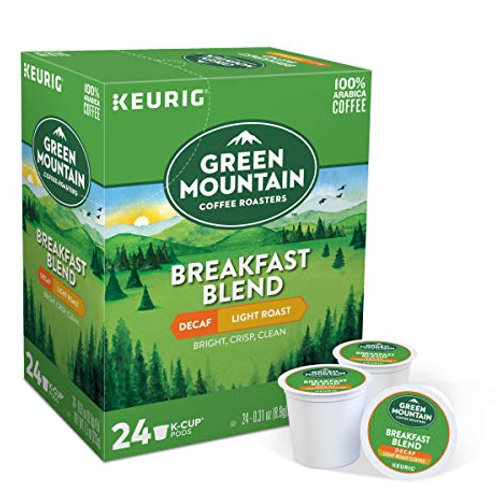 Breakfast Blend Coffee Decaf Green Mountain K-cup