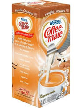 Coffee Mate Vanilla Caramel Liquid Cream Cups (50 cups per box)