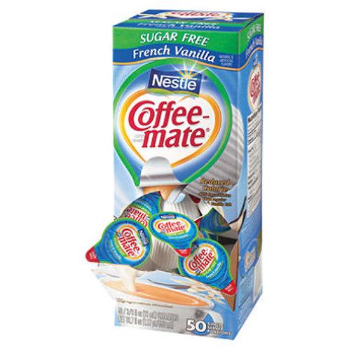 Coffee Mate Sugar free fench vanilla cream cups 50 cups