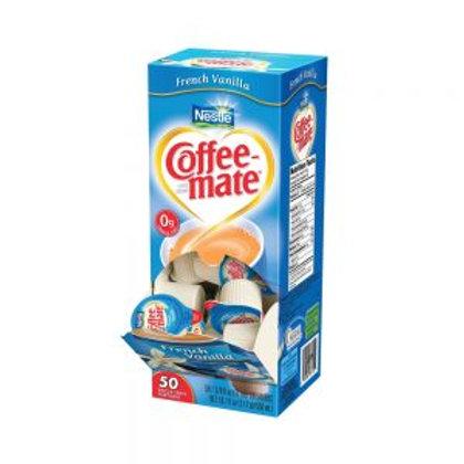 Coffee Mate French Vanilla liquid Cream cups