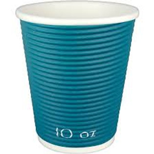 Blue Ripple Wall 10 oz Paper Hot Cup Berkley Square - 500 count