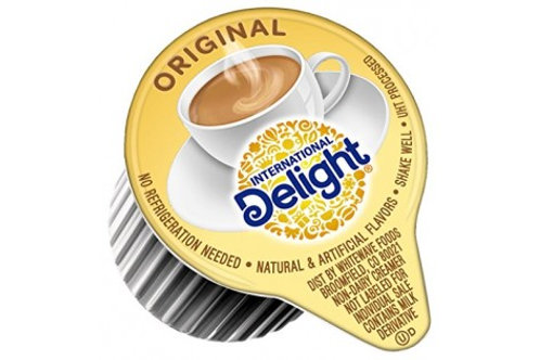 International Delight Half & Half Liquid Cream Cups - 48 cups per box