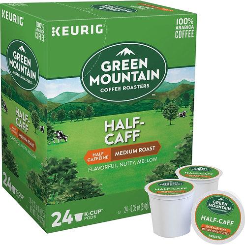green mountain half caff k cup coffee