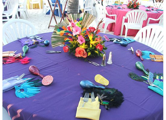 Aruba table decor 2