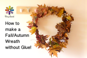 Making an autumn wreath without glue