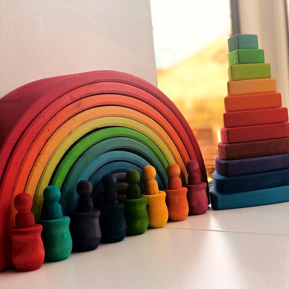 DIY Children's toys DIY Grimms rainbow