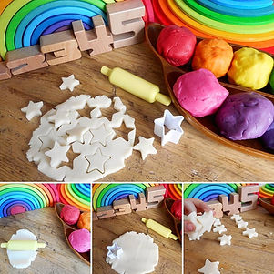 playdough colouring