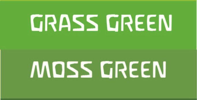 Aus Green 4 Set Wood Stains