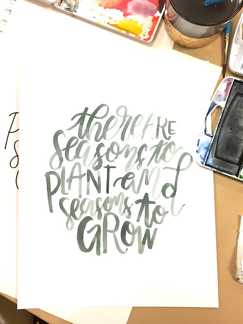 Custom Watercolor Hand Lettering