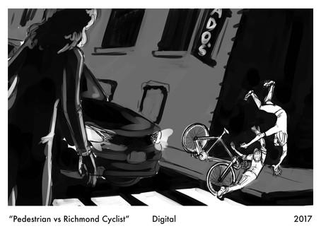 Pedestrian vs Richmond Cyclist