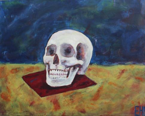 Skull on red envelope