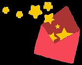 Enveloppe étoiles Éclatement