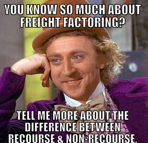 the difference between recourse and non-recourse freight factoring
