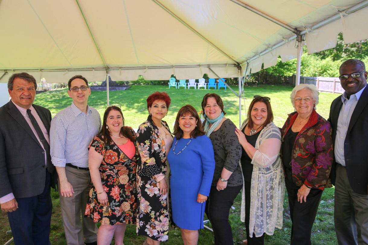 Brunch with George Latimer, Hispanic Dems, Ossining Trustee Rika Levin, Catherine Borgia, Sandy Galef, Ken Jenkins