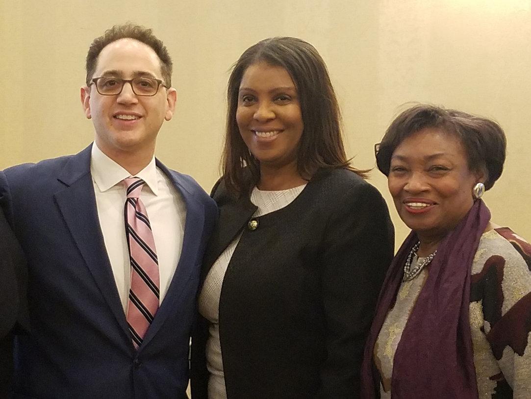 Attorney General Tish James & Majority Leader Sen. Andrea Stewart-Cousins