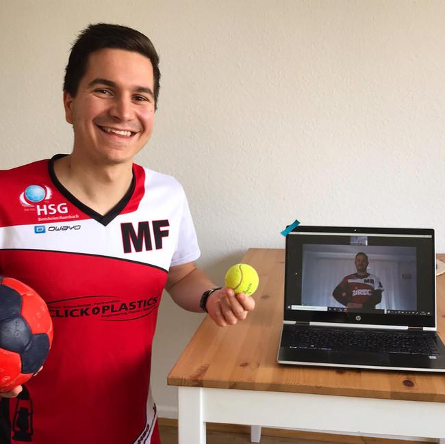 Erstes virtuelles Handballtraining der HSG