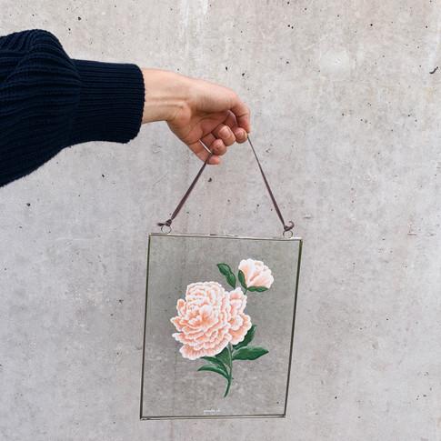 Glasrahmen Rose gross pomba.ch