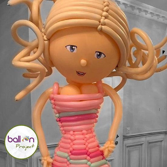 Эксклюзивный подарок на день рождения кукла из воздушных шаров