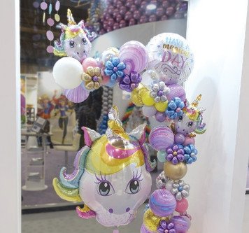 Оформление магазина воздушными шарами