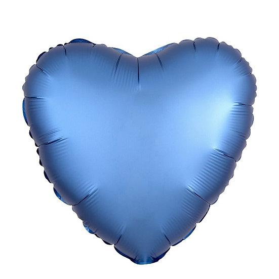Сердце матовое 49 см с гелием и лентой