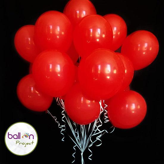 Облако красных воздушных шаров с доставкой по Сочи