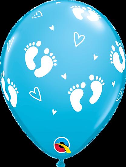 Американские гелиевые шары на выписку из роддома в Сочи для мальчика голубые