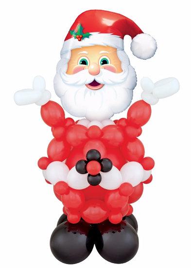 Дед Мороз из воздушных шаров для оформления нового года в Сочи