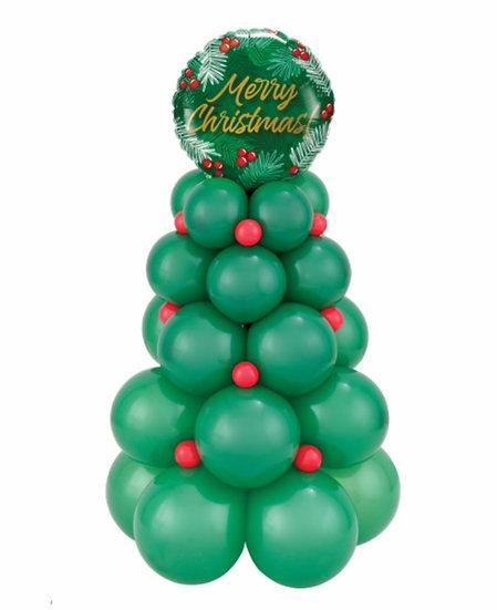 Новогодняя ёлка из воздушных шаров в Сочи