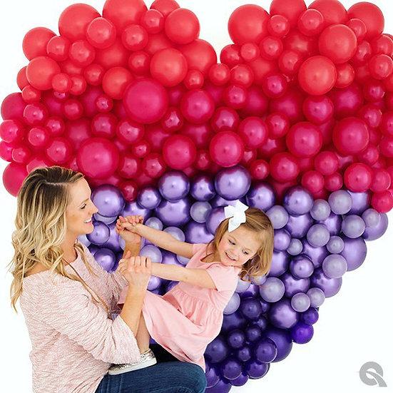 Сердце из разнокалиберных шаров