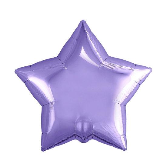 Звезда глянцевая 53 см с гелием и лентой