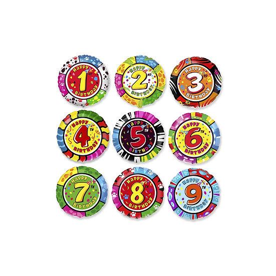 Шар цифра фольгированная яркая на день рождения в Сочи