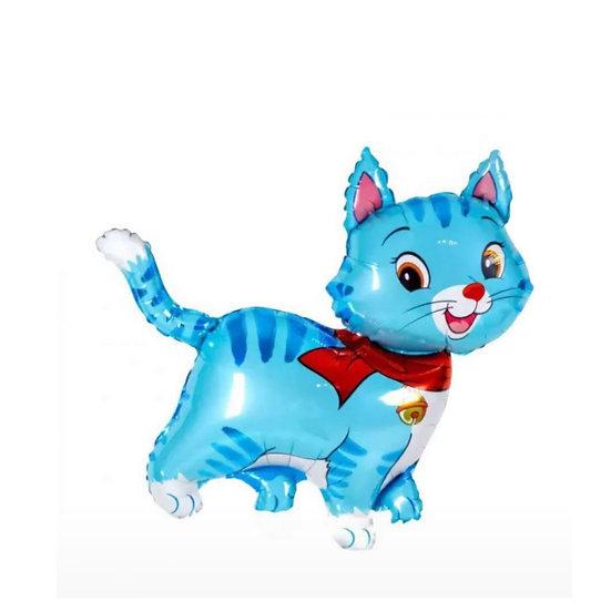 Кошечка с шарфом 91 см с гелием и лентой