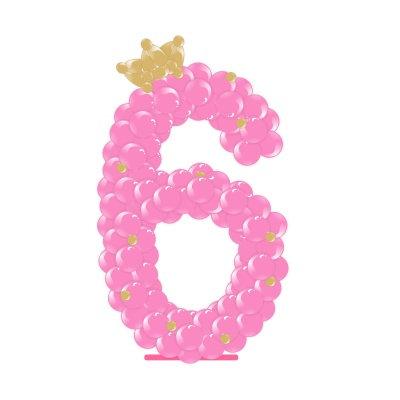 """Цифра из шаров """"Принцессошна"""""""