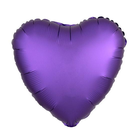 Сердце матовое 19' с гелием и лентой