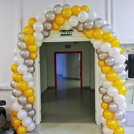 Стандартная арка из шариков на открытие центра