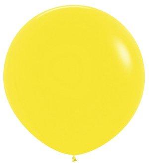 Желтый метровый шар с доставкой по Сочи