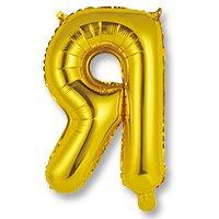 Буква золотая 41 см, накачана воздухом