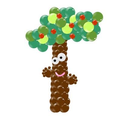Дерево из воздушных шариков в Сочи
