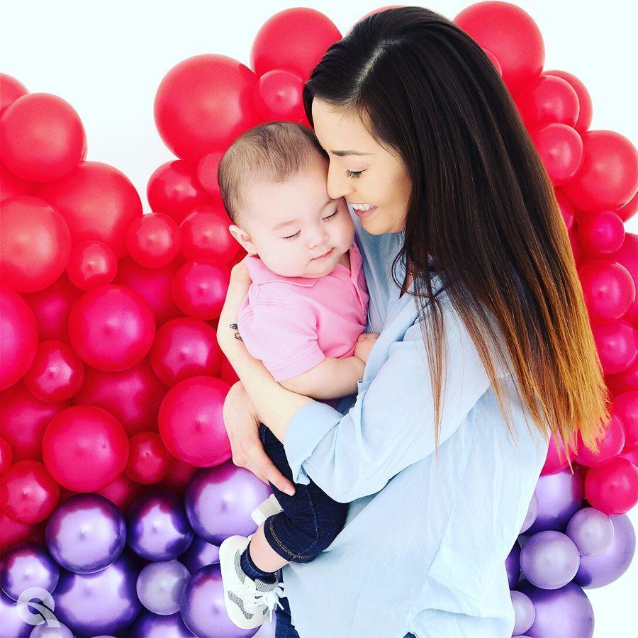 Воздушные шары для фотосессии новорожденных в Сочи