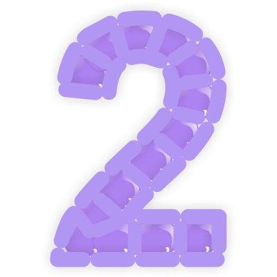 "Цифра из шаров ""Кубики"""